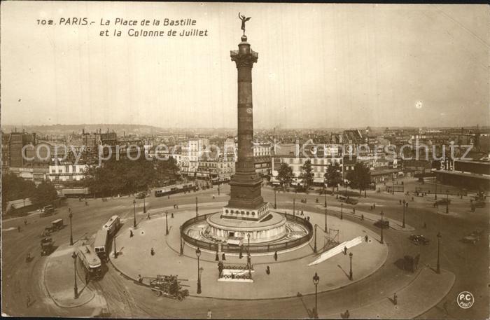 Paris Place de la Bastille Colonne de Juillet Kat. Paris