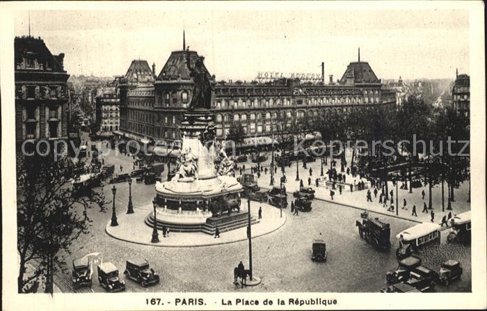 Paris Place de la Republique Monument Kat. Paris