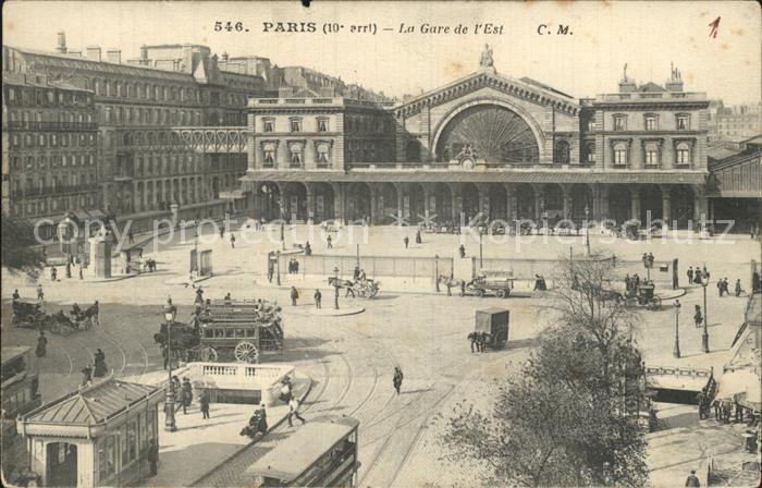 Paris La Gare de l Est Kat. Paris