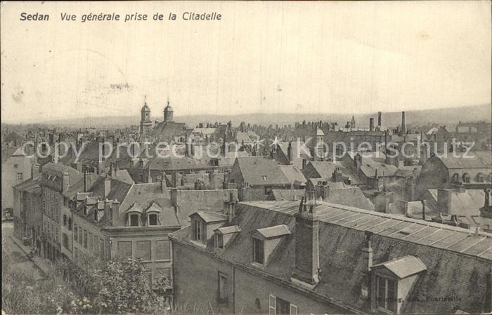Sedan Ardennes Vue generale prise de la Citadelle Kat. Sedan