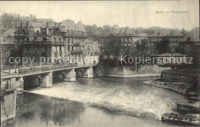 Sedan Ardennes Maasbruecke Pont de la Meuse Kat. Sedan