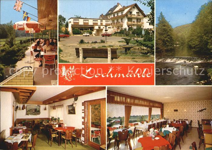 Oberzeuzheim Hotel Pension Restaurant Lochmuehle Partie am Fluss Wehr Kat. Hadamar