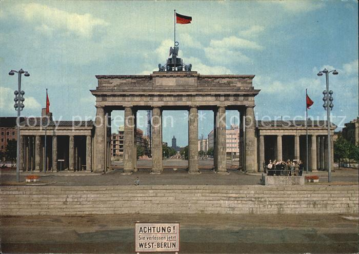 Berlin Brandenburger Tor Kat. Berlin 0
