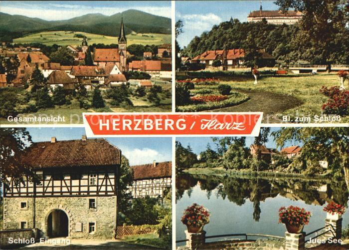 herzberg harz schloss jues see panorama kat herzberg am harz nr kv01927 oldthing. Black Bedroom Furniture Sets. Home Design Ideas