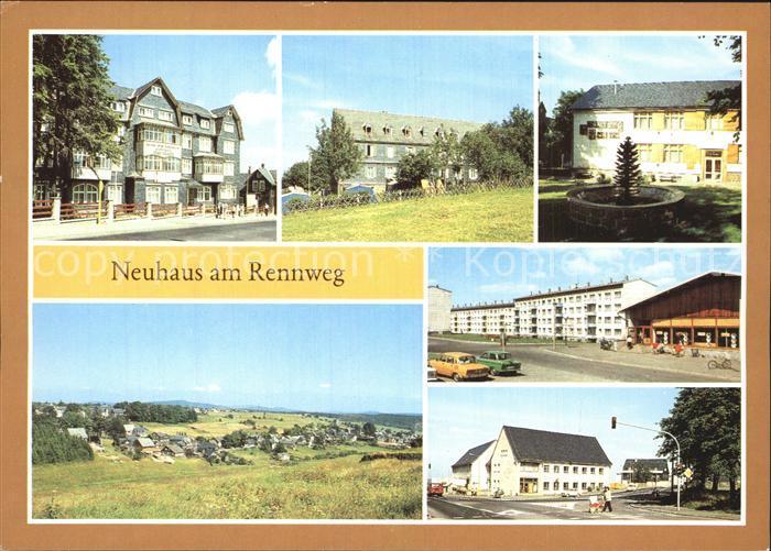 Neuhaus Rennweg Erholungsheim Ernst Thaelmann VEB Leuna Werke Tannenzapfenbrunnen Kat. Neuhaus Rennweg