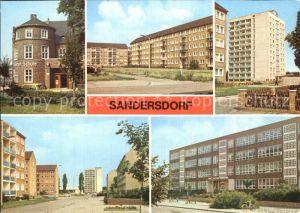 Sandersdorf Sachsen Anhalt August Bebel Schule Ring der Chemiearbeiter Hochhaus  Kat. Sandersdorf Sachsen Anhalt