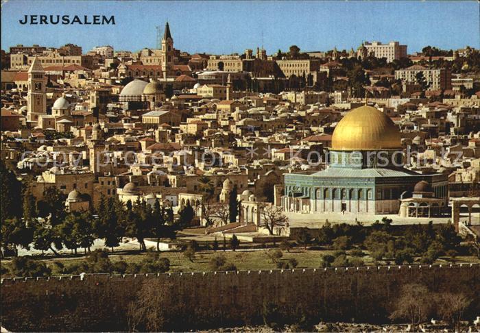 Jerusalem Yerushalayim Stadtansicht vom oelberg Kat. Israel