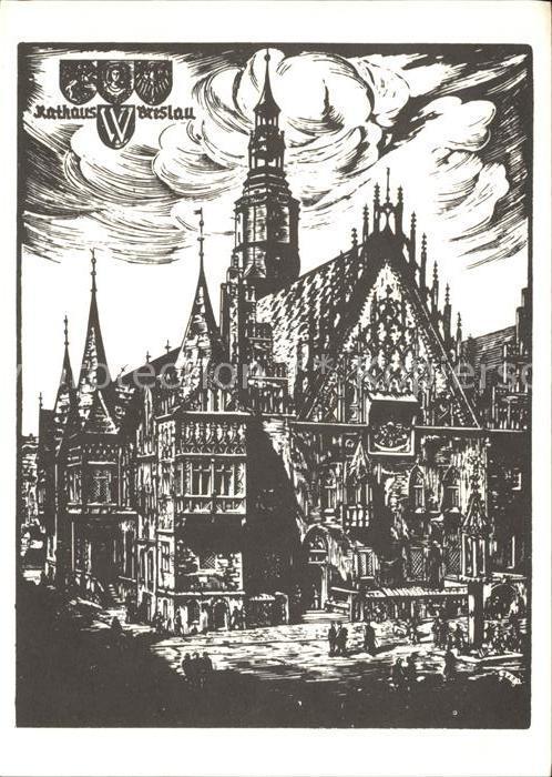 Breslau Niederschlesien Rathaus Alt Breslau Kat. Wroclaw