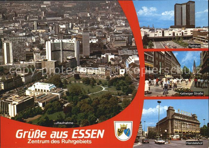 Essen Ruhr Luftaufnahme Handelshof Rathaus Kettwiger Strasse Kat