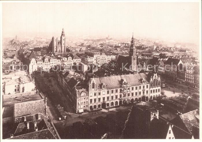 Wroclaw Blick vom Elisabethturm Kat. Wroclaw Breslau