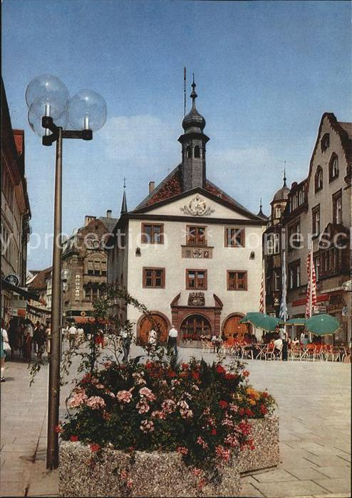 Bad Kissingen Marktplatz Rathaus Kat. Bad Kissingen