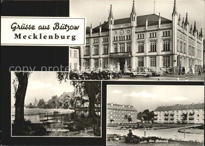 Buetzow Rathaus Warnow Bahnhof Kat. Buetzow