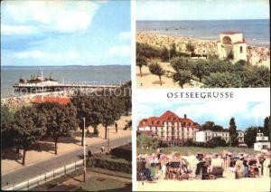 Ahlbeck Ostseebad Seebruecke Bansin Strand Kat. Heringsdorf Insel Usedom