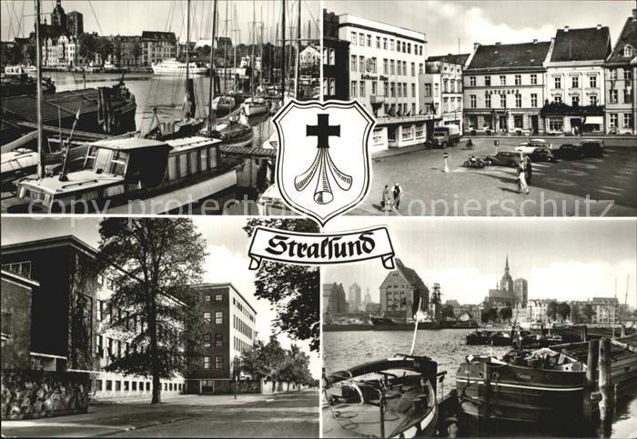 Stralsund Mecklenburg Vorpommern Hafen Alter Markt Krankenhaus Am Sund Hafen Kat. Stralsund
