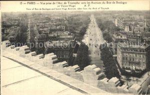Paris Vue prise de l Arc de Triomphe vers les Avenues du Bois de Boulogne et Victor Hugo Kat. Paris