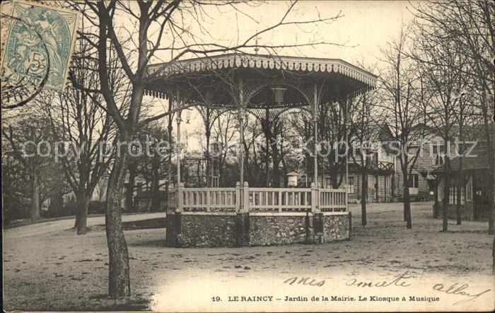 Le Raincy Jardin de la Mairie Le Kiosque a Musique Kat. Le Raincy
