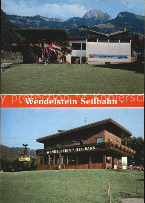 Bayrischzell Wendelstein Seilbahn mit Wendelstein Kat. Bayrischzell