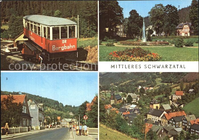 Schwarzatal Obstfelderschmiede Bergbahn Meuselbach Sitzendorf Mellenbach Kat. Rudolstadt