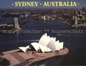 Sydney New South Wales Aerial view Opera House and the Harbour Bridge Kat. Sydney