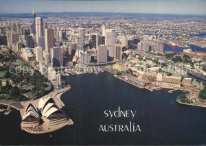 Sydney New South Wales Aerial view The Harbour Opera House Kat. Sydney