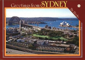 Sydney New South Wales Aerial view Historic Rocks Harbour Kat. Sydney