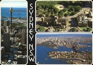 Sydney New South Wales Tower and Harbour Queens Square St Marys Cathedral Aerial view Kat. Sydney