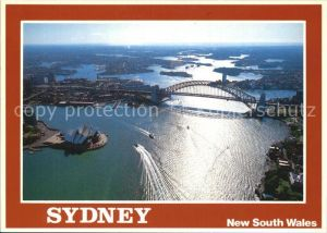 Sydney New South Wales Aerial view of Sydney Harbour Kat. Sydney