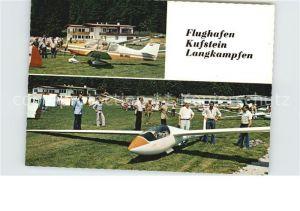 Langkampfen Flughafen Kufstein Segelflugzeug Restaurant Tiroler Fliegerstuben Kat. Langkampfen