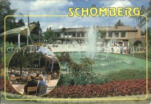 Schoemberg Schwarzwald Kurhaus Wasserspiele Kurkonzert Kat. Schoemberg