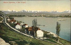 Biel Bienne Vingelz Vigneules Panorama / Biel /Bz. Biel City