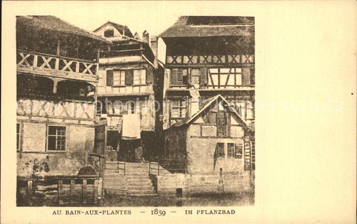 Strassburg Elsass Pflanzbad Kat. Strasbourg