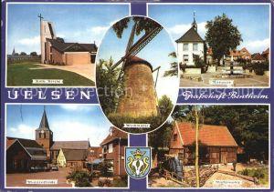 Uelsen Katholische Kirche Rathaus Muehlenstrasse Wassermuehle Kat. Uelsen