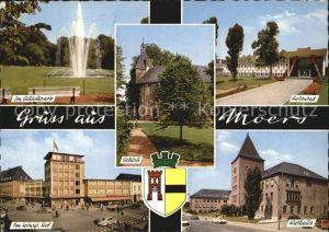 Moers Rathaus Hallenbad Schlosspark Kat. Moers