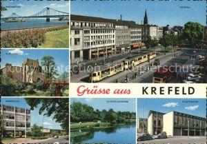 Krefeld Rheinbruecke Burb Linn Weberschule Schoenwasserpark Stadttheater Ostwall Kat. Krefeld
