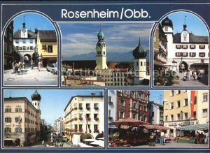 Rosenheim Bayern Stadttor Kirchen Strassenpartie Markt Kat. Rosenheim