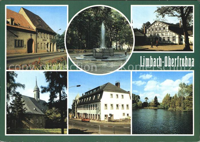 Limbach Oberfrohna Rathaus Fontaene Stadtpark Gaststaette ...