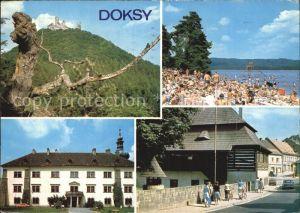 Doksy Hirschberg See  Strand  Kat. Doksy