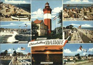 Dahme Ostseebad Leuchtturm Strand Seebruecke Kat. Dahme