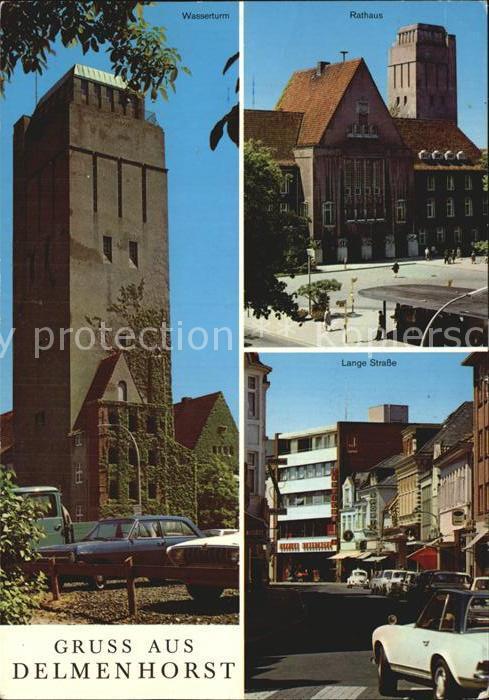 Delmenhorst Lange Strasse Wasserturm Rathaus Kat. Delmenhorst