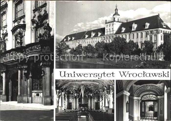 Wroclaw Universitaet Aula Portal Kat. Wroclaw Breslau