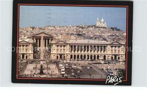 Paris La Place de la Concorde le Sacre Coeur Kat. Paris