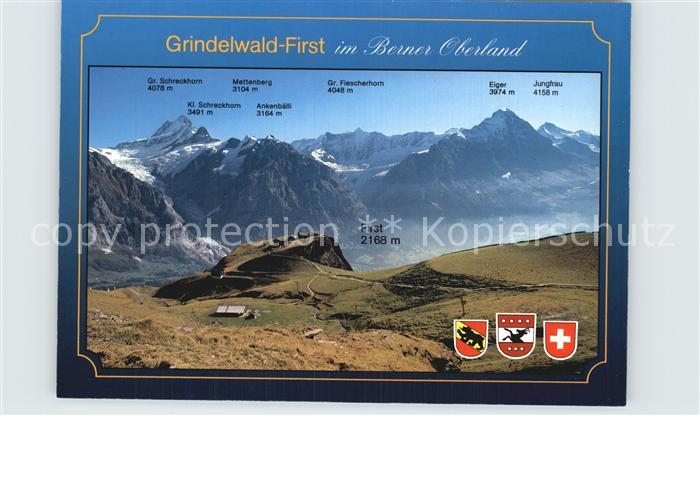 Grindelwald First Grosser Schreckhorn Jungfrau Kat. Grindelwald 0