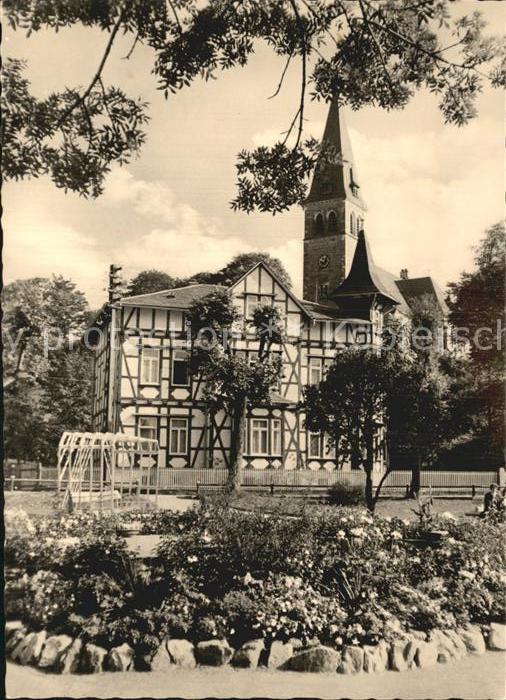 Brotterode Kirche Springbrunnen  Kat. Brotterode