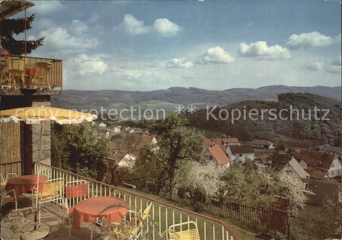Lindenfels Odenwald Haus Luginsland Terrasse Kat. Lindenfels