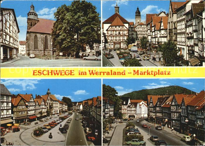 kt73411 Eschwege Marktplatz Teilansichten Kat. Eschwege