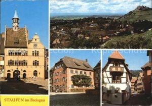Staufen Breisgau Rathaus Brunnen Panorama Markt Fachwerkhaus Kat. Staufen im Breisgau
