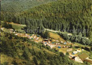 Lerbach Harz Blick vom Clausberg auf den Campingplatz Kat. Osterode am Harz