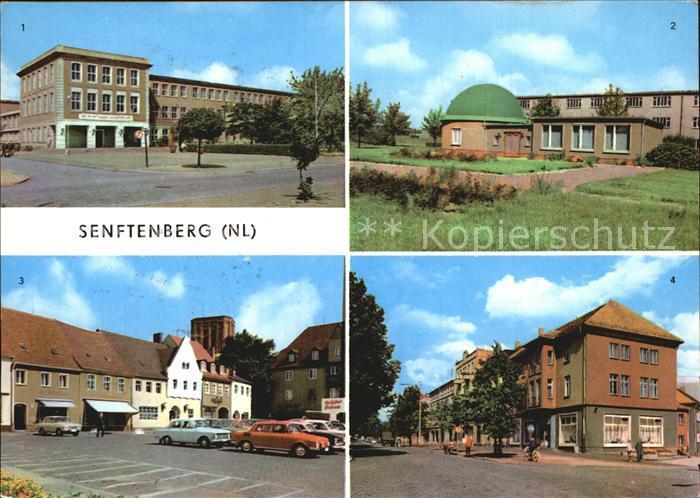 Senftenberg Niederlausitz Ingenieurschule Planetarium Platz der Freundschaft Bahnhofstrasse HOG Stadtcafe Kat. Senftenberg