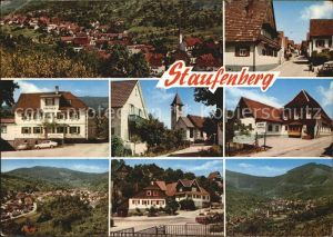 Staufenberg Gernsbach Ortsansicht mit Kirche Strassenpartie Kirche Kat. Gernsbach