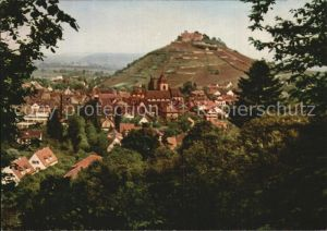 Staufen Breisgau Panorama Historische Fauststadt Burg Kat. Staufen im Breisgau